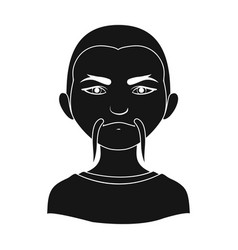 chinesehuman race single icon in black style vector image vector image