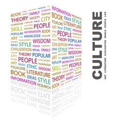 CULTURE vector image vector image