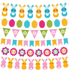 Easter garlands set vector image vector image