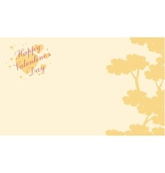 Greeting card valentine with tree background vector