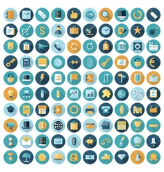 icons flat line business vector image vector image