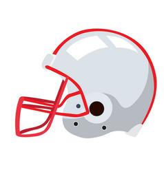 isolated football helmet vector image