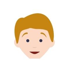 Kid boy avatar head person icon graphic vector