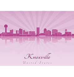 Knoxville skyline in purple radiant orchid vector