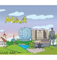 Minsk doodles vector