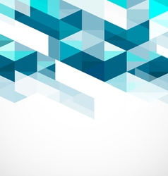 Modern blue geometrical abstract template vector image