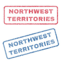 Northwest territories textile stamps vector