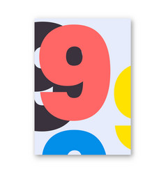 Number 9 poster vector