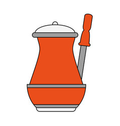 Old cofffee maker vector