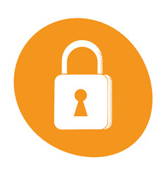 Padlock security system technology image vector