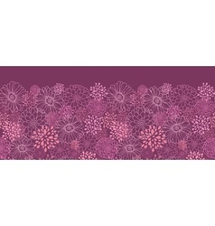 Purple field flowers horizontal seamless pattern vector image vector image