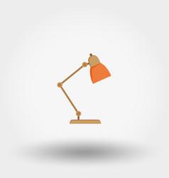 reading lamp icon flat vector image