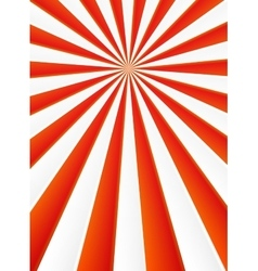 Red and white rays abstract circus poster vector