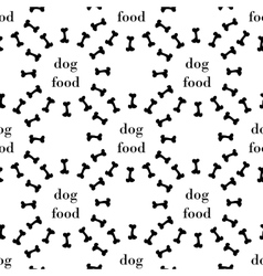 seamless pattern with bone for dog vector image vector image
