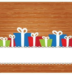 Set Christmas card with holiday elements vector image