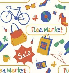 Summer flea market seamless pattern vector