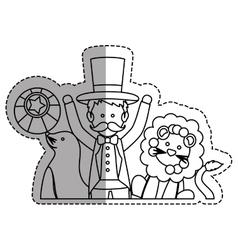 Tamer circus cartoon vector