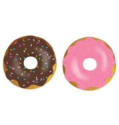 tasty donuts vector image vector image