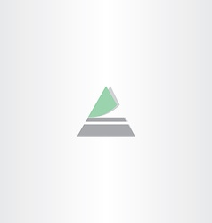 triangle icon letter a logo vector image