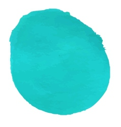 Turquoise watercolor for web vector image vector image