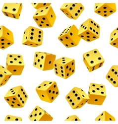 yellow dice seamless background vector image vector image