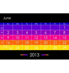 2013 June vector image