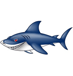 Angry blue shark vector