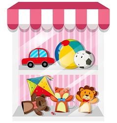Set of puppets and toys vector