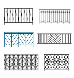 Steel balcony rails vector
