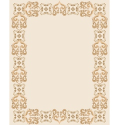 Gothic rectangular frame vector