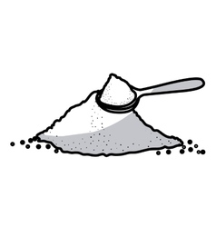 Isolated sugar and shovel design vector