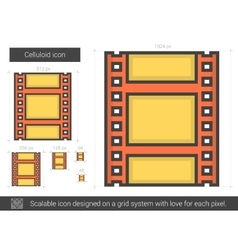 Celluloid line icon vector