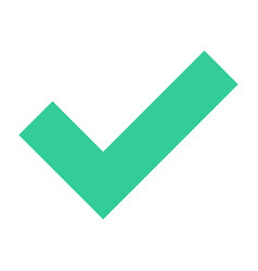 Flat check mark icon tick sign approved button vector