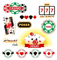 casino emblems vector image