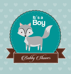 Baby shower card invitation its a boy celebration vector