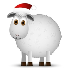 Background with santa sheep vector