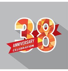 38th Years Anniversary Celebration Design vector image