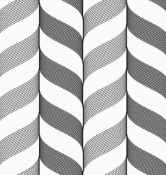 Ribbons dark and light forming vertical chevron vector