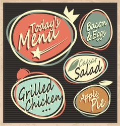 Retro restaurant menu template vector image