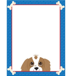 Dog bone frame vector image