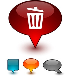 Recycle bin speech comic icons vector
