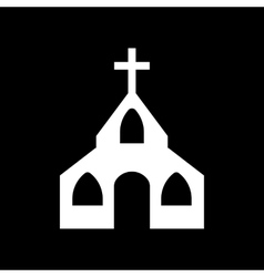 The church icon christian and god catholic vector