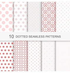 Seamless patterns with dots vector