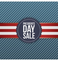 Presidents day sale realistic blue usa emblem vector