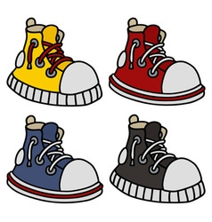 Funny color sneakers vector