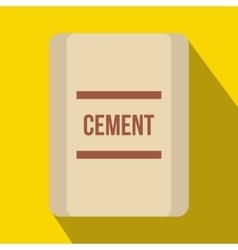 One bag of cement icon flat style vector