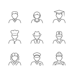 People avatars set vector