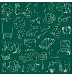 Hand draw school education doodles vector