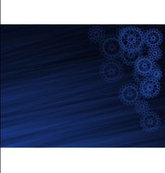 Abstract dark blue background with the gears vector image vector image