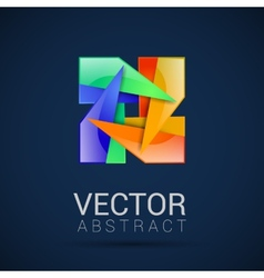 abstract logo design template abstract vector image vector image